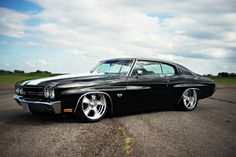 70 #Chevelle was built by Mike's Unique Automotive Collision Center. It gets its low stance from an air bag suspension system.