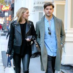 Olivia Palermo and Johannes Huebl celebrating their 9-year anniversary with some shopping love in Soho! #oliviapalermo #johanneshuebl