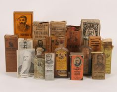 Old bearded men and their beautifully-boxed, cocaine-laced cough remedies.