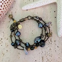 Black Pearl Antique Bracelet