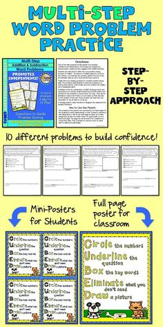 Free worksheet for teaching word problem strategies to students! The CUBE math story problem strategy teaches students to apply reading comprehension strategies using either the CUBES or CUBED method for solving word problems. Try a page FREE! Word Problems 3rd Grade, Math Story Problems, Second Grade Math, 4th Grade Math, Reading Comprehension Strategies, Math Strategies, Cubes Math Strategy, Problem Solving Activities, Math Games