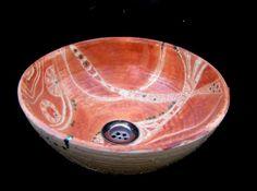 bacha/lavabo de torno en cerámica para baño  cerámica,esmaltes torno alfarero,decoración a mano