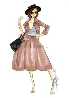 Fashion Illustration-Fashion sketch-fashion by brooklit on Etsy