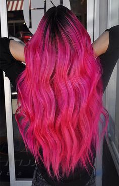 Gorgeous Hair Color Ideas 2019 - All For Hair Color Trending Bright Pink Hair, Vivid Hair Color, Hot Pink Hair, Vibrant Hair Colors, Gorgeous Hair Color, Hair Color Pink, Hair Dye Colors, Cool Hair Color, Coloured Hair