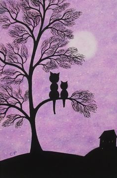 #Mothers Day #Card #Cat, #Tree Cat Card, Mothers Day Cat Card, Tree #Art Card, #Kitten £2.50