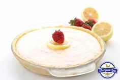 Frozen Strawberry Lemonade Pie - Pete and Gerry's Low Carb Sweets, Low Carb Desserts, Frozen Desserts, Frozen Treats, Healthy Desserts, Delicious Desserts, Healthy Recipes, Strawberry Lemonade Pie Recipe, Raspberry Lemonade