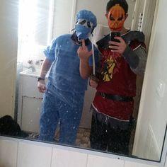 Costumes for Halloween . . . . . . . . . . . #alien #whatibuy #mylife #nerds #geeky #nerdiness #nerdlife #adventures #geeklife #singlelife #selfie #sexyselfie #hotness #hottie #cute #knight #bbw #costumes #lol #halloween #cosplay #lookatourcostumes #houseman #readyup