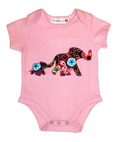 Look what I found on #zulily! Heather Hill Pink Elephants Bodysuit - Infant by Heather Hill #zulilyfinds