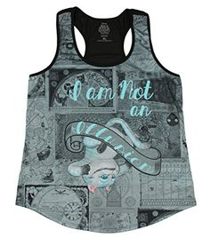 Disney Alice Through The Looking Glass Illusion Cheshire Cat Girls Tank Top Large -- BEST VALUE BUY on Amazon