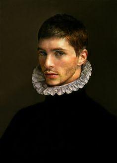 Portrait of a 16th century Flemish gentleman; artist unknown