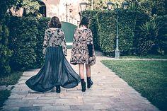 ''Gemini'' manteau in grey with ''Aquila'' cardi by Nidodileda Clothing #clothing #boho #bohemian # manteau #cardigan