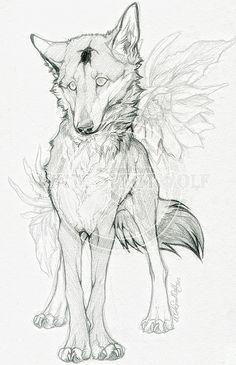 New Line Art Tattoo Wolf Wolves Ideas Animal Sketches, Animal Drawings, Cool Drawings, Art Sketches, Line Art Tattoos, Wolf Tattoos, Tattoo Art, Inspiration Art, Art Inspo
