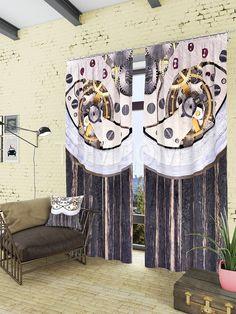 """Комплект штор """"Часовой механизм"""": купить комплект штор в интернет-магазине ТОМДОМ #томдом #curtains #шторы #interior #дизайнинтерьера"""