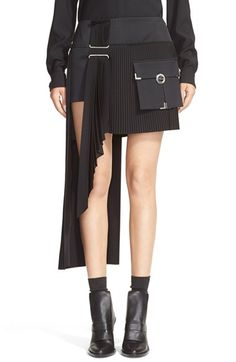ANTHONY VACCARELLO Cargo Pocket Side Pleat Miniskirt available at #Nordstrom