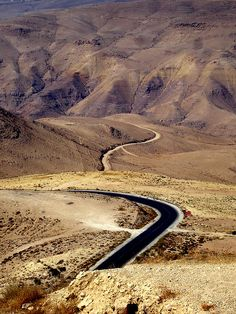~J THE LONELY ROAD.... ! Mt Nebo Jordan