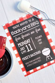 Free Bbq Invitation Template Best Of Summer Bbq Party Invitations & Printables – Invitation Card Ideas Picnic Invitations, Diy Invitations, Diy 60th Birthday Invitations, Invitation Templates, Invitation Wording, Invitation Ideas, Summer Bbq, Summer Parties, Picnic Parties