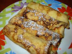 Clatite cu urda la cuptor Romanian Food, Crepes, French Toast, Deserts, Sweets, Meals, Traditional, Griddle Cakes, Breakfast