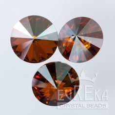 Eureka Crystal Beads - 1122 10mm (47ss) Rivoli CRYSTAL COPPER Swarovski Crystal Stones (4 pcs), $2.85 (http://www.eurekacrystalbeads.com/1122-10mm-47ss-rivoli-crystal-copper/)