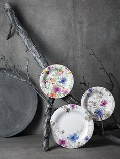 Villeroy&Boch - Servizio Mariefleur Gris | Materiali: Premium Porcelain | #design #piatti #homedecor #primavera #casa |
