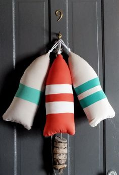 Maine Lobster Buoy Pillow.gifts under 45.life preserver pillow.nautical pillow.life jacket.buoy pillow.buoy. orange pillow. on Etsy, $44.00