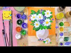 Как нарисовать вазу с цветами - урок рисования для детей от 5 лет, натюрморт, рисуем дома поэтапно - YouTube