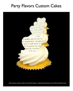 Love notes in a cupcake! #PartyFlavors delicious cupcakes!