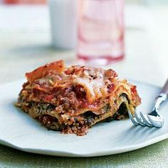 No-boil lasagna noodles are perfect for this recipe, as they absorb all the juices that accumulate in the crockpot. Use 2 (10-ounce) packages of frozen chopped spinach in place of fresh, if you prefer. Also, any mushroom will work.