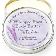 Chamomile Lavender Whipped Shea Body Butter An all-natural shea body butter with healing Roman chamomile and pure lavender essential oil. Formulated for highly sensitive skin and especially psoriasis and eczema sufferers. Hydrates, soothes itchiness and softens dry, scaley outbreaks. This product contains the highest quality, unprocessed shea butter from the karite tree of West Africa. Easily absorbed by the skin and bursting with natural anti-inflammatories and anti-wrinkle retinoids this…