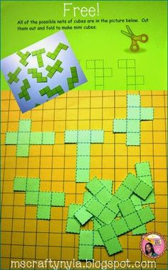 Free Activities for Nets of Cubes #math