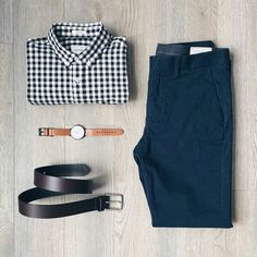 Taylor Stitch Navy Slim Fit Chinos - Men's Outfit Grid