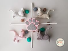 trendy ideas for crochet amigurumi ball baby gifts Crochet Kids Scarf, Crochet Mittens Free Pattern, Crochet Shoes Pattern, Free Knitting, Baby Crib Mobile, Baby Cribs, Crochet Baby Mobiles, Felt Ball Garland, Crochet Pillow