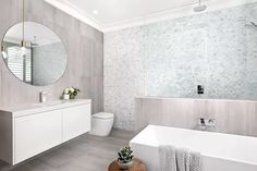 12 Inspiring Walk-In Showers for Small Bathrooms | Hunker Small Bathroom With Shower, Large Shower, Family Bathroom, Small Bathrooms, Tile Accent Wall, Bathroom Trends, Bathroom Countertops, Amazing Bathrooms, A Boutique