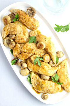 30 Minute Chicken with White Wine and Mushroom Sauce