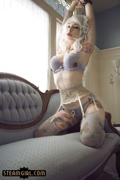 We hope you've enjoyed this introduction to Anastassia Bear and her debut photo set on SteamGirl.com!