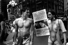 """Revealing Photos Of New York's Genderqueer Community In The '90s #refinery29  http://www.refinery29.com/mariette-pathy-allen-photography-transgender-photo-series#slide-6  """"Brandon Teena should have been here,"""" Gay Pride Parade, NYC...."""