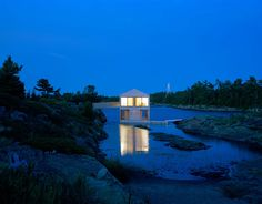 Floating House, in Lake Huron, by MOS Architects