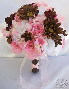 Super cute sweet 16 idea! Pink and brown are really cute together. These aren't even real and still look cute together.