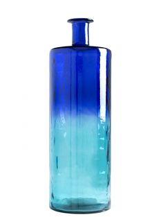 Grecian goddess glass vase by Lulu & Georgia   turquoise, teal, blue
