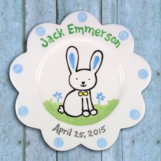 Baby Gift  Personalized Plate  Hand by LittleWormAndCompany