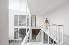 Calicanto House | REA Studio; Photo: César Béjar | Archinect Gated Community, Months In A Year, Interior Architecture, Living Spaces, Home And Family, Stairs, Patio, Studio, House