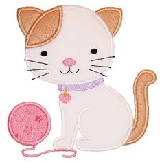 Kitty and Yarn - Planet Applique Inc