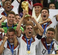 Champions: Germany won their fourth World Cup after beating Argentina 1-0 in the final at ...