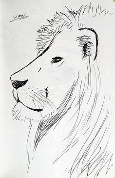 ライオン。  #moleskine