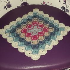Bavarian crochet. Battaniye modeli