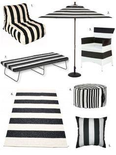Simple as Black & White: Striped Outdoor Decor
