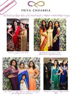 0a19b7262ae A testimonial by happy clients in Priya Chhabria designs. Find these and  other designs at priyachhabria.com