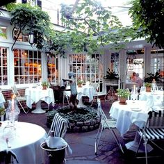 Dining Outside at The Charlotte Inn, Edgartown, Martha's Vineyard