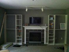 Faux Built In: Billy Bookcase Ikea Hack