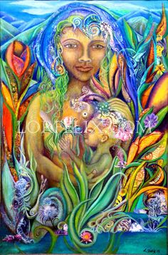 Mother and Child, Visionary Art by Lori Felix on Etsy <3