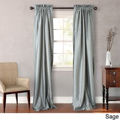 Heritage Landing 96-inch Faux Silk Curtain Pair | Overstock.com Shopping - Great Deals on Heritage Curtains